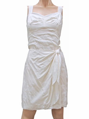 Bamboo Garden White Sarong Dress