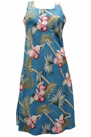 Bamboo Orchid Blue Tank Dress