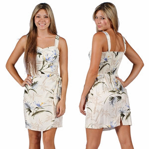 Bamboo Paradise Cream Sarong Dress
