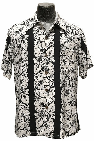 Classic Hibiscus Black Retro Hawaiian Shirt