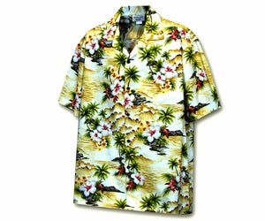 Diamond Head Beach Maize Boy's Hawaiian Shirt
