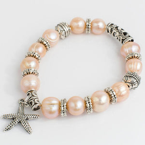 Elastic FWP Bracelet with Starfish Charm