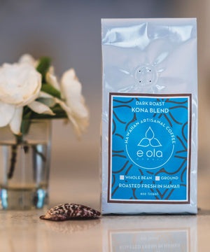 E Ola Hawaii Kona Blend Artisanal Dark Roast