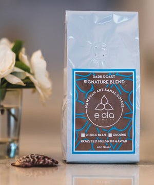 E Ola Hawaii Signature Blend Artisanal Dark Roast
