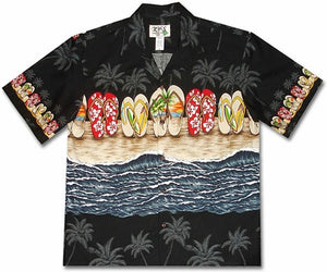 Flip Flop Fetish Black Hawaiian Shirt