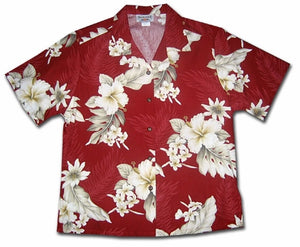 Floral Garden Fire Women's Hawaiian Shirt