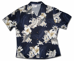 Floral Garden Night Women's Hawaiian Shirt