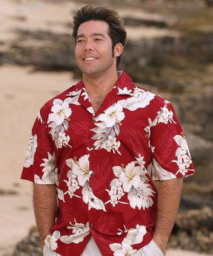 Floral Garden Red Hawaiian Shirt