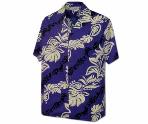 Island Lei Purple Hawaiian Shirt