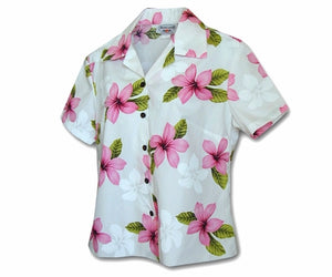 Island Pricess Pink Fitted Women's Hawaiian Shirt