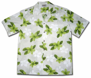 Island Prince Green Hawaiian Shirt