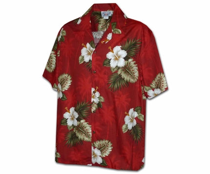 Kilauea Red Boy's Hawaiian Shirt