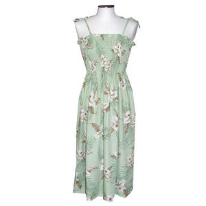 Kahala Orchid Green Mid-Length Tube Dress