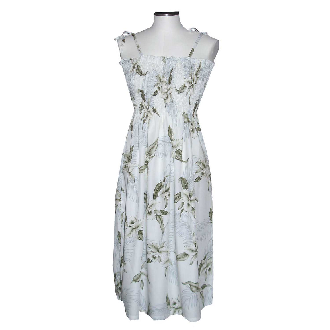 Kahala Orchid White Mid-Length Tube Dress
