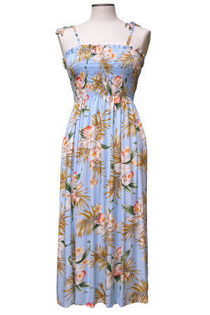 Pacific Orchid Blue Mid-Length Tube Dress
