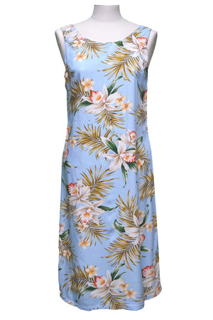 Pacific Orchid Blue Mid-length Tank Dress