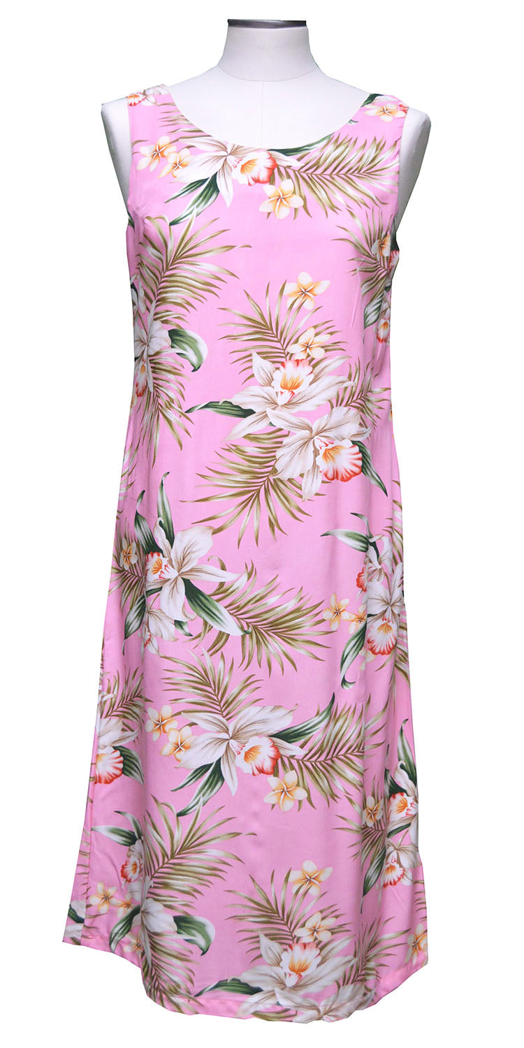 Pacific Orchid Pink Mid-length Tank Dress
