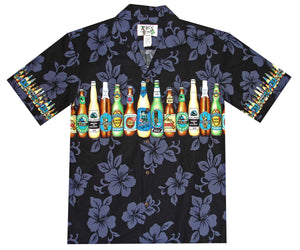 Beer Man Black Hawaiian Shirt