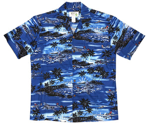 Pacific Wingman Navy Hawaiian Shirt