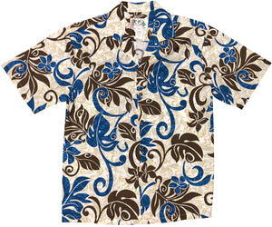 Groovy Jungle Blue Hawaiian Shirt