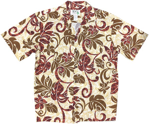 Groovy Jungle Red Hawaiian Shirt