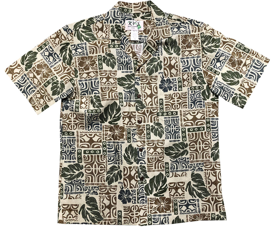 Garden Glyphs Green Hawaiian Shirt