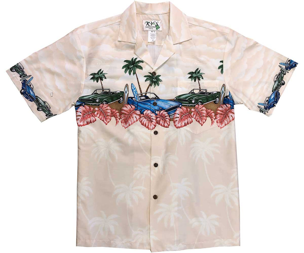Beach Cars Beige Hawaiian Shirt