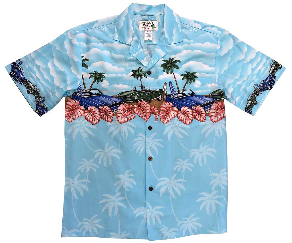 Beach Cars Sky Hawaiian Shirt