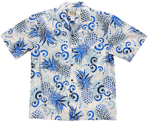 Pineapple Dream Blue Hawaiian Shirt