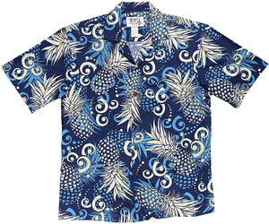 Pineapple Dream Navy Hawaiian Shirt