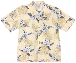 Kahala Orchid Yellow Hawaiian Shirt