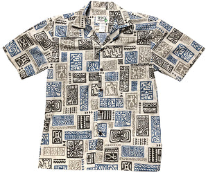 Ancient Stories Gray Hawaiian Shirt