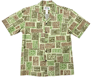 Ancient Stories Green Hawaiian Shirt
