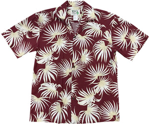 Dancing Ferns Red Hawaiian Shirt