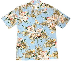 Pacific Orchid Sky Hawaiian Shirt