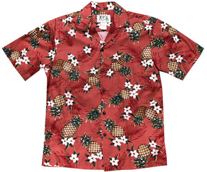 Pineapple Pack Red Hawaiian Shirt