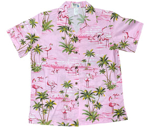Flamingo Island Pink Women's Hawaiian Shirt