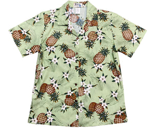 Pineapple Pack Green Women's Hawaiian Shirt