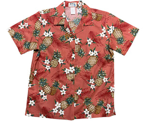 Pineapple Pack Red Women's Hawaiian Shirt