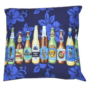 Beer Man Navy Pillow Case