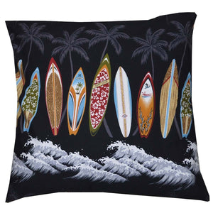Midnight Surfboards Pillow Case