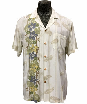 Pacific Paradise White Hawaiian Shirt