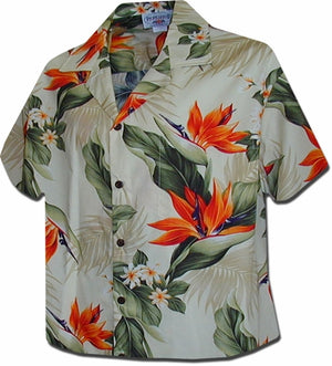 Paradise Valley Cream Hawaiian Camp Shirt