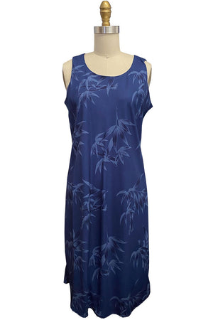 Bamboo Garden navy Hawaiian tank dress by Paradise Found