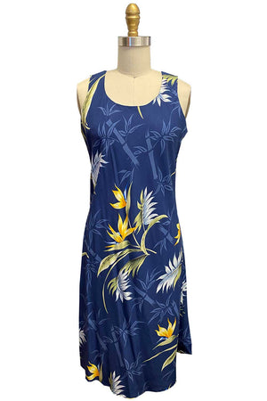 Bamboo Paradise Navy Tank Dress