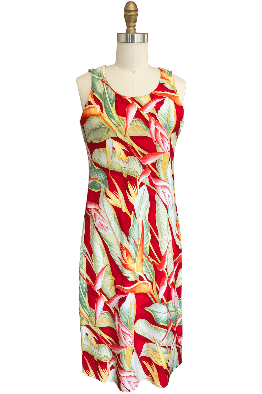 Heliconia Heaven Red Tank Dress