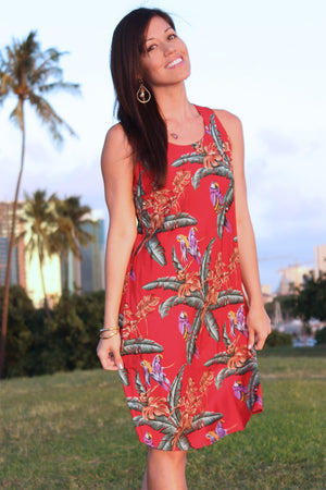 Jungle Bird Tank Dress (Magnum PI)