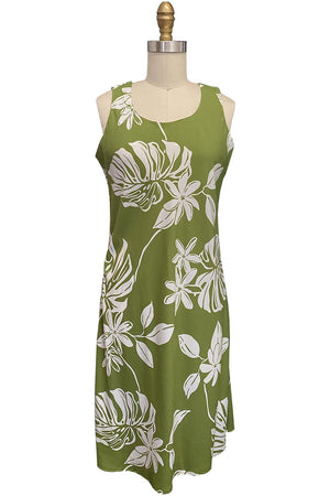 Tiare Fest Green Tank Dress