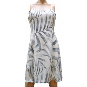 Islander Fronds Cream Spaghetti Dress