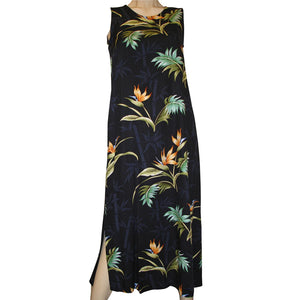 Bamboo Paradise Black Long Tank Dress